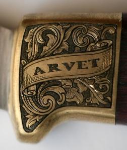 Hand engraved brass bolster