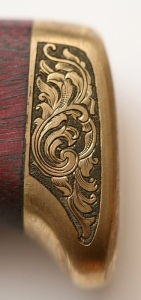 Hand engraved brass rear bolster