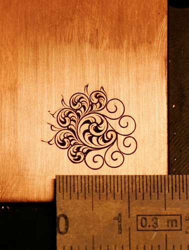 Hand engraved English scroll