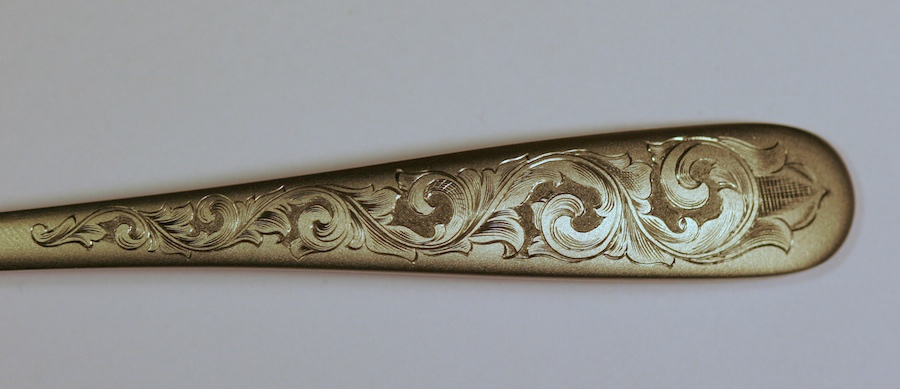 Hand engraved spoon