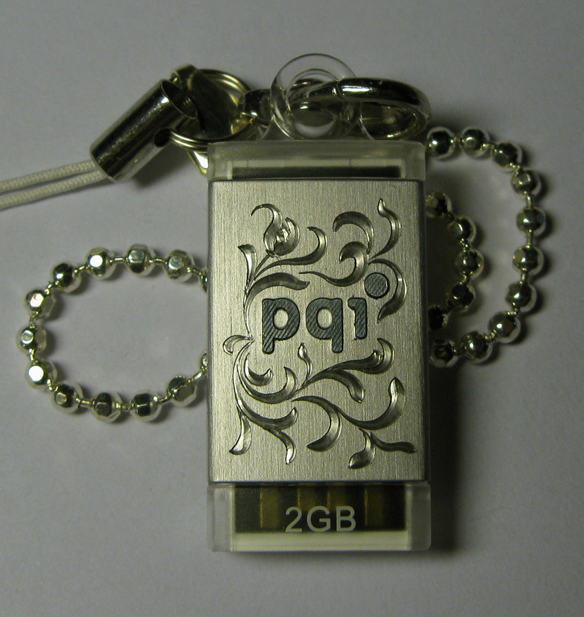 Hand engraved USB memory stick